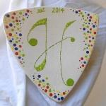 monogram platter